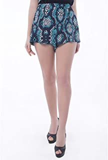 Palm Lagoon Brigitta in Enamel Snake Skin Blue Loose Fit Women Short