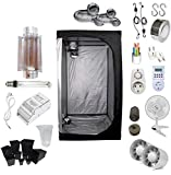 Supacrop Kit de Cultivo Interior 250W SHP Cooltube - Armario 80x80x160 - Balastro ETI 1