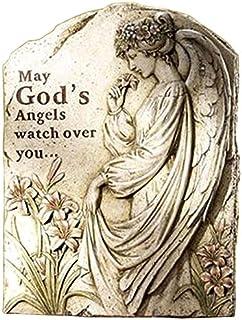 "NapCo Memorial Angel Stepping Stone/Plaque, 16.5"""