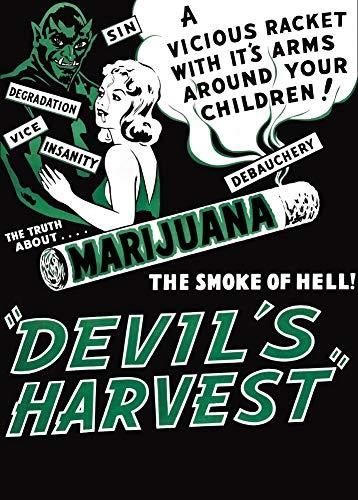 Vintage-Posterdruck, Motiv: Propaganda Devils Harvest, The Smoke of Hell, 300 x 460 mm