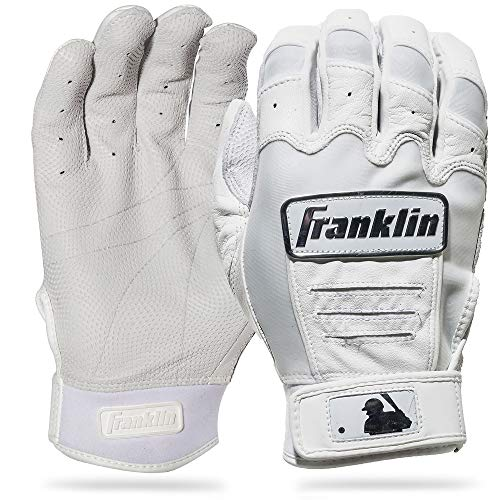 Franklin Sports CFX Pro Full Color Chrome Series Batting Gloves CFX Pro Full Color Chrome Batting Gloves, White, Adult X-Large