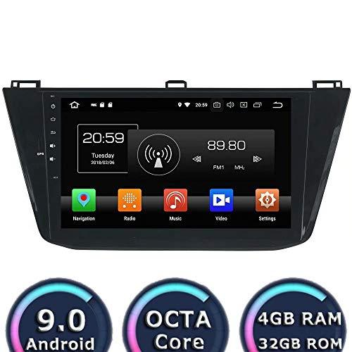 ROADYAKO Anroid 8.0 Auto Multimedia pour VW Tiguan 2016 2017 Autoradio Stéréo avec Navigation GPS 3G WiFi Lien de Miroir RDS FM AM Soutien Bluetooth Caméra de Recul