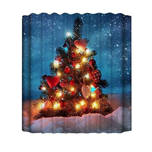 XXYsm Duschvorhang 180x180 Weihnachten Waschbar Anti Schimmel Lustig Ungiftig Weihnachtsmann Drucken für Dusche & Badewanne