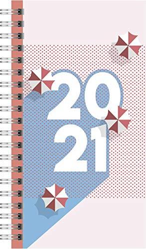rido/idé 7014104011 Taschenkalender Timing 2, 2 Seiten = 1 Woche, PP-Einband Graphic, Kalendarium 2021