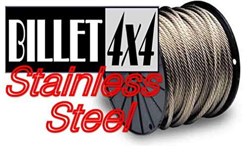 Great Features Of BILLET4X4 Stainless Steel Winch Cable Extension - 7/16 inch X 80 ft (16,300lb Stre...