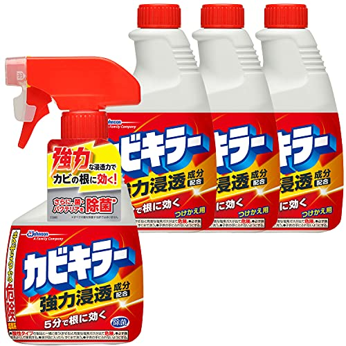 【まとめ買い】カビキラーカビ取り剤本体1本+付替用3本セット400g×4本