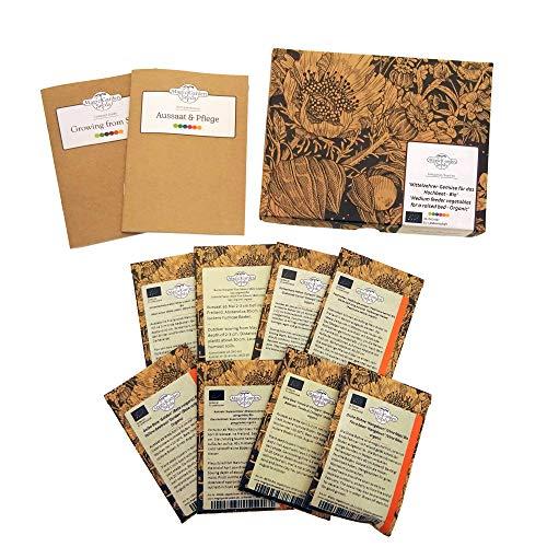 Mittelzehrer-Gemüse für das Hochbeet (Bio) - Samen-Geschenkset mit 8 Gemüsesorten für das zweite Jahr im Fruchtwechsel