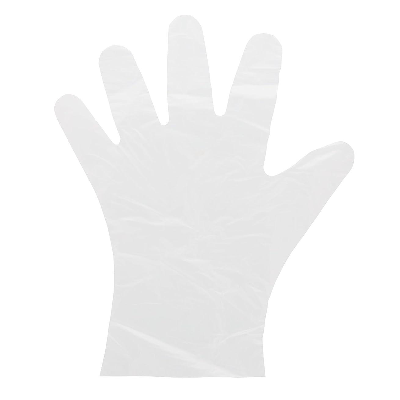 つぶやきコンピューターを使用する振動するAmercare Foodguard HDPE使い捨て手袋、パウダーフリー、ケースの1000 M 14992-C