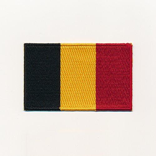 hegibaer 30 x 20 mm Königreich Belgien Brüssel Flagge Flag Aufnäher Aufbügler 0959 Mini