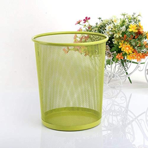 Ibuprofen Iron Net Waste Bin Round Waste Paper Basket Kitchen Debris Cleaning Bucket Uncomplicated Office Household Black