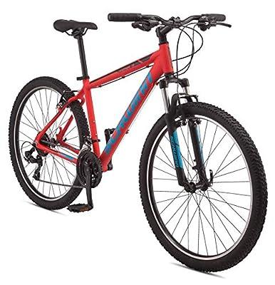 Schwinn Mesa 3 Adult Mountain Bike, 21 speeds, 27.5-inch Wheels, Small Aluminum Frame, Red