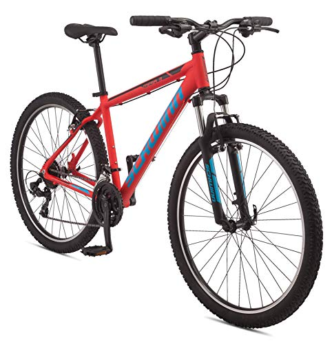 Schwinn Mesa 3 Adult Mountain Bike, 21 speeds, 27.5-inch Wheels, Medium Aluminum Frame, Red