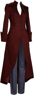 Sodossny-AU Womens Vintage Medieval Slim Single-Breasted Fashion Tuxedo Long Coat Dress
