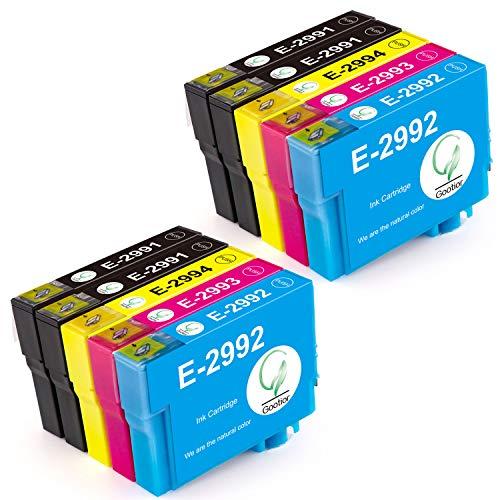 Gootior 29XL Cartucce d'inchiostro Epson 29 XL, Compatibile con Epson XP-342 XP-442 XP-245 XP-432 XP-345 XP-247 XP-235 XP-255 XP-257 XP-352 XP-452 XP-455 XP-335 (4 Nero, 2 Ciano, 2 Magenta, 2 Giallo)