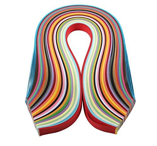 Demarkt Quilling Papier Streifen Papier Papierstreifen Papierbreite zum Basteln und Dekorieren 26 Farben (39 x 7mm)