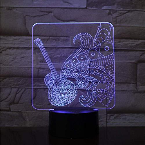 Luz Mágica 3D Led16 Color Luz Nocturna Toque Guitarra Usb Atmósfera Lámpara De Mesa, Adecuada Para Bebés, Niños, Regalo Para Niños, Junto A La Cama