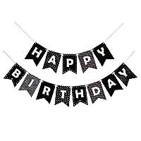 Black & White birthday banner