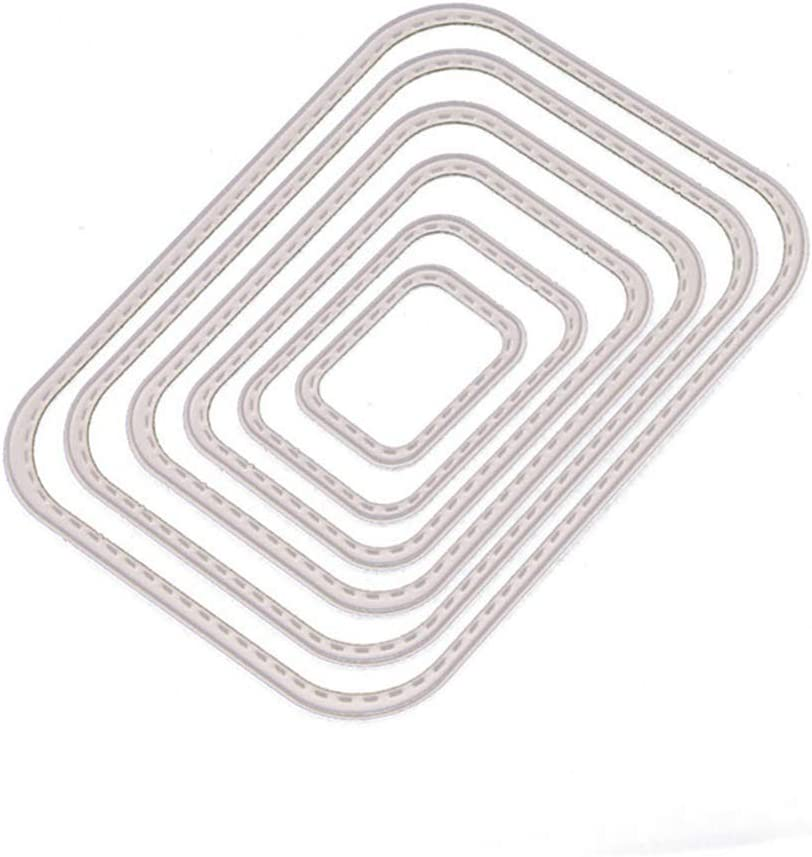 6Pcs Set Rectangular Round Corner Frame C Dies Cutting 5 ☆ very popular Metal for Houston Mall