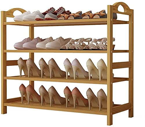 Tinta Organizador de Zapatos Almacenamiento Surviving Room Shoe Shelf Bambú Zapato Rack 3/4 / 5-Nivel Zapato Almacenamiento Organizador Estantes Entrada Dormitorio Dormitorio Estante