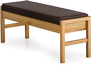 Marca Amazon -Alkove - Hayes - Banco de madera maciza con asiento tapizado (roble salvaje)