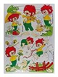 Glanzbilder EF 7083 Pumuckl mit Geige Frosch Schaukelpferd Posiebilder Deko GWI 725