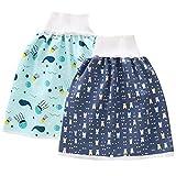 Eastern Corridor-EU Lot de 2 jupes à couches lavables et imperméables en coton pour bébé garçon et fille - - 4-12 ans
