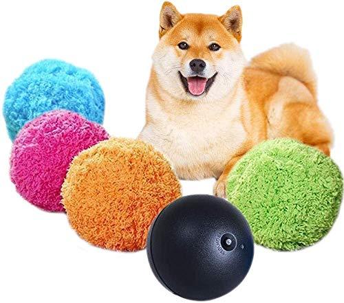 Juguetes para Mascotas Bola de Rodillo automática Segura Bola mágica para Perros y Gatos Juguetes interactivos para Mascotas, Juguete eléctrico para Mascotas de Bolas para Perros, 1 Bola + 4 Fundas