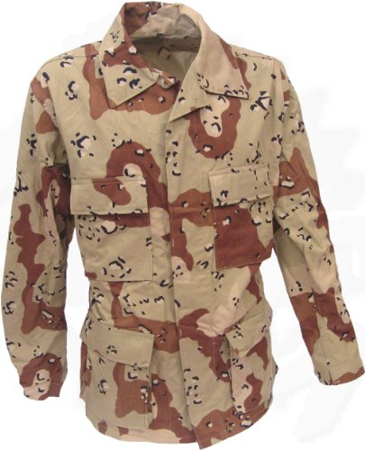 Military Issue 6 Color Desert Camouflage BDU Shirt / Jacket; Size Medium Regular