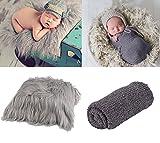 ZOYLINK Newborn Wrap, Foto Prop lange Haare Neugeborenen Fotografie Wrap Foto Decke Shaggy Bereich...