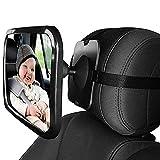 GKONGU Miroir Auto Bébé Miroir de Voiture pour bébé 30 * 19CM Miroir de Sécurité pour Bébé 360° Réglable pour Une Conduite sûre