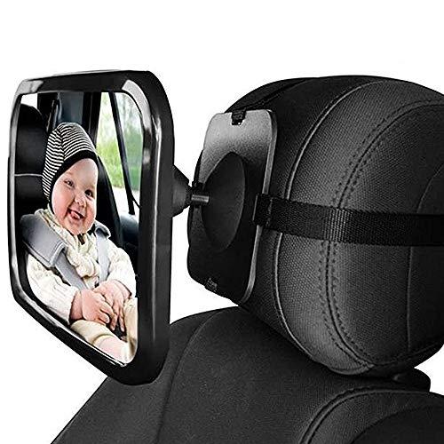 GKONGU Rücksitzspiegel fürs Baby, 30 * 19CM Zurück Sitzspiegel,Bruchsicherer Sicherheitsspiegel,Babyschalenspiegel Sicherheitsspiegel,Babyspiegel Auto für Kindersitz