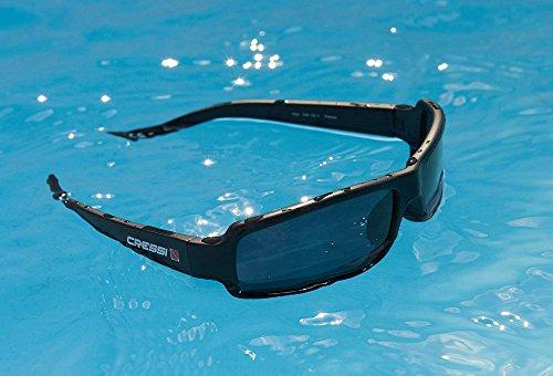 Cressi Ninja Floating Sonnenbrillen, Schwarz/Verspiegelt Linsen Blau, M - 3