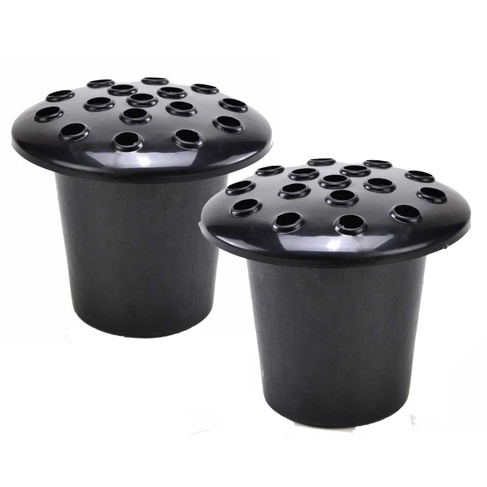 Angraves Set of 2 Black Grave Vases And Lids Black For Fresh and Artificial Flowers Pot  sc 1 st  Amazon UK & Flower Pots for Graves: Amazon.co.uk