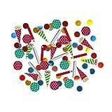 NET TOYS Farbenfrohes Konfetti für Schulanfang 15 g - Niedliche Kinder-Partydeko Zuckertüten Tischdeko für Einschulung - Genau richtig für Schulanfänger & Kinderfest
