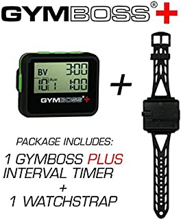 Gymboss Plus Interval Timer and Stopwatch Watch Strap - Bundle
