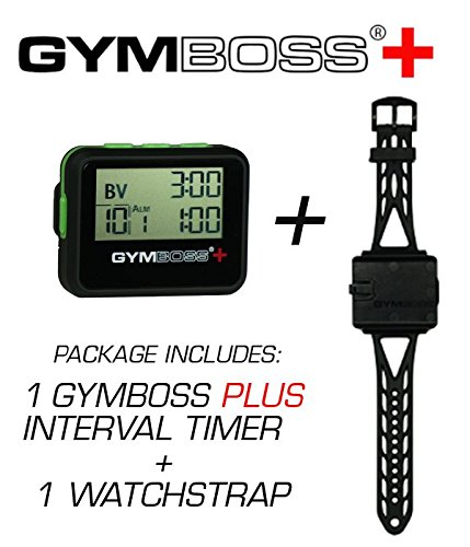 fitness timers amazon comgymboss plus interval timer and stopwatch watch strap bundle