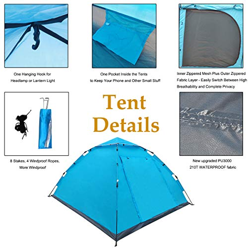 Best waterproof pop up tent for 4 person camping
