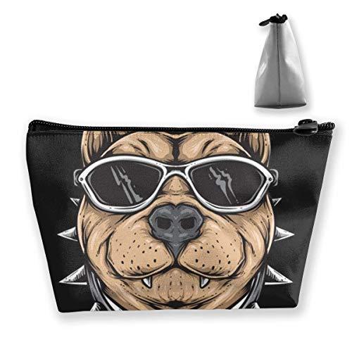 Tragbare Kosmetiktasche Sonnenbrille Bull Dog Multifunktionaler Druck Trapez-Aufbewahrungstasche für Frauen