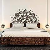 SLQUIET Mandala Art Vinyl Wandaufkleber Yoga Studio Abnehmbare Aufkleber Kopfteil Schlafzimmer Dekoration Familie Und Garten Wandaufkleber Mode Aufkleber 13 mittelblau 84x42 cm
