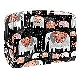 Bolsa de Maquillaje Elefante Boho Neceser de Cosméticos y Organizador de Baño Neceser de Viaje Bolsa de Lavar para Hombre y Mujer 18.5x7.5x13cm