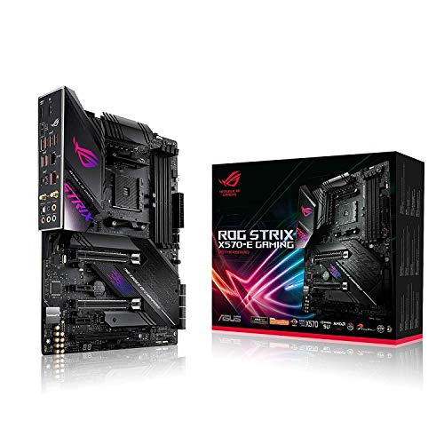 ASUS ROG Strix X570-E Gaming ATX Motherboard, AMD Socket AM4, Ryzen 3000, 16 Power Stages, PCIe 4.0, M.2, DDR4, Wi Fi 6 (802.11 ax), 2.5G LAN, Intel LAN, HDMI, DP, USB 3.2, Aura Sync RGB, Black