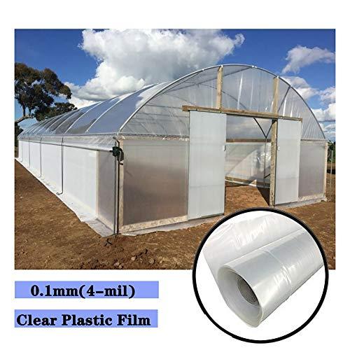 Tarpaulin LJIANW Greenhouse Plastic 4 mil UV Resistant Clear Film Polyethylene for garden Furniture dustproof waterproof, 24Sizes (Color : Clear, Size : 2x9m)