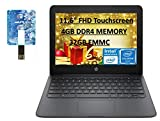 HP 2020 Newest Chromebook 11.6' HD Laptop for Business and Student, Intel Celeron N3350, 4GB RAM, 32GB eMMC Flash Memory, Webcam, USB-A&C, WiFi , Bluetooth, Chrome OS with E.S Holiday32GB USB Card