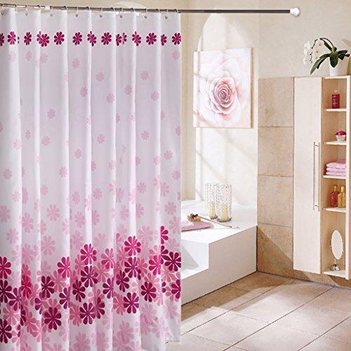 Rideaux de douche Rideau de douche épaisse imperméable à l'eau et mildiou rideau de douche épaissir vert salle de bains salle de bains partition polyester douche rideau envoyer crochet Rideaux de douche de haute qualité
