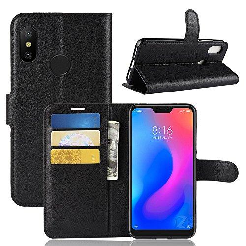 Capa Capinha Carteira Flip Wallet Case 360 Xiaomi Mi A2 Lite De Tela 5.84Couro Sintético Pronta Entrega (Preto)