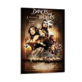 HDHR Movie Poster and Vintage Wall Art Print Dancing with Wolves Poster Decorative Painting Canvas Wall Art Living Room Posters Bedroom Painting 24x36inch(60x90cm)