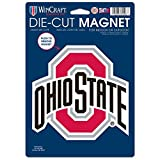 NCAA Ohio State University 81803014 gestanzter Logo-Magnet, klein, schwarz -