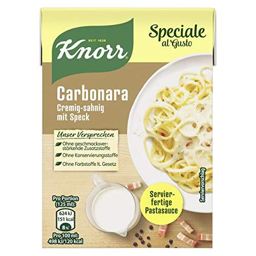 Knorr Speciale al Gusto Carbonara Soße, 1er-Pack (1 x 370 g)
