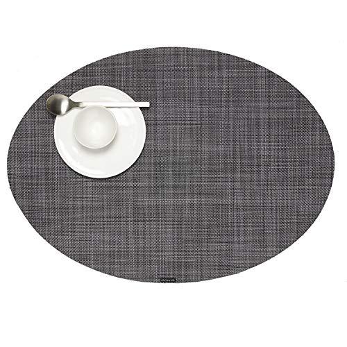 Chilewich Tischset Mini Basketweave Oval Cool Grey