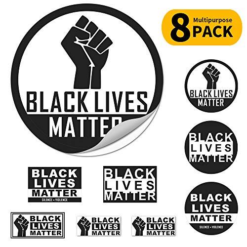 Black Lives Matter Fist Logo Stoßstangenaufkleber Auto Magnet Fenster Aufkleber Laptop Aufkleber für Wand Fenster Auto Laptop T-Shirts, 14,5 cm 9,9 cm 7 cm 6 cm schwarz